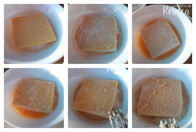 Receta de gofres de queso: empanado