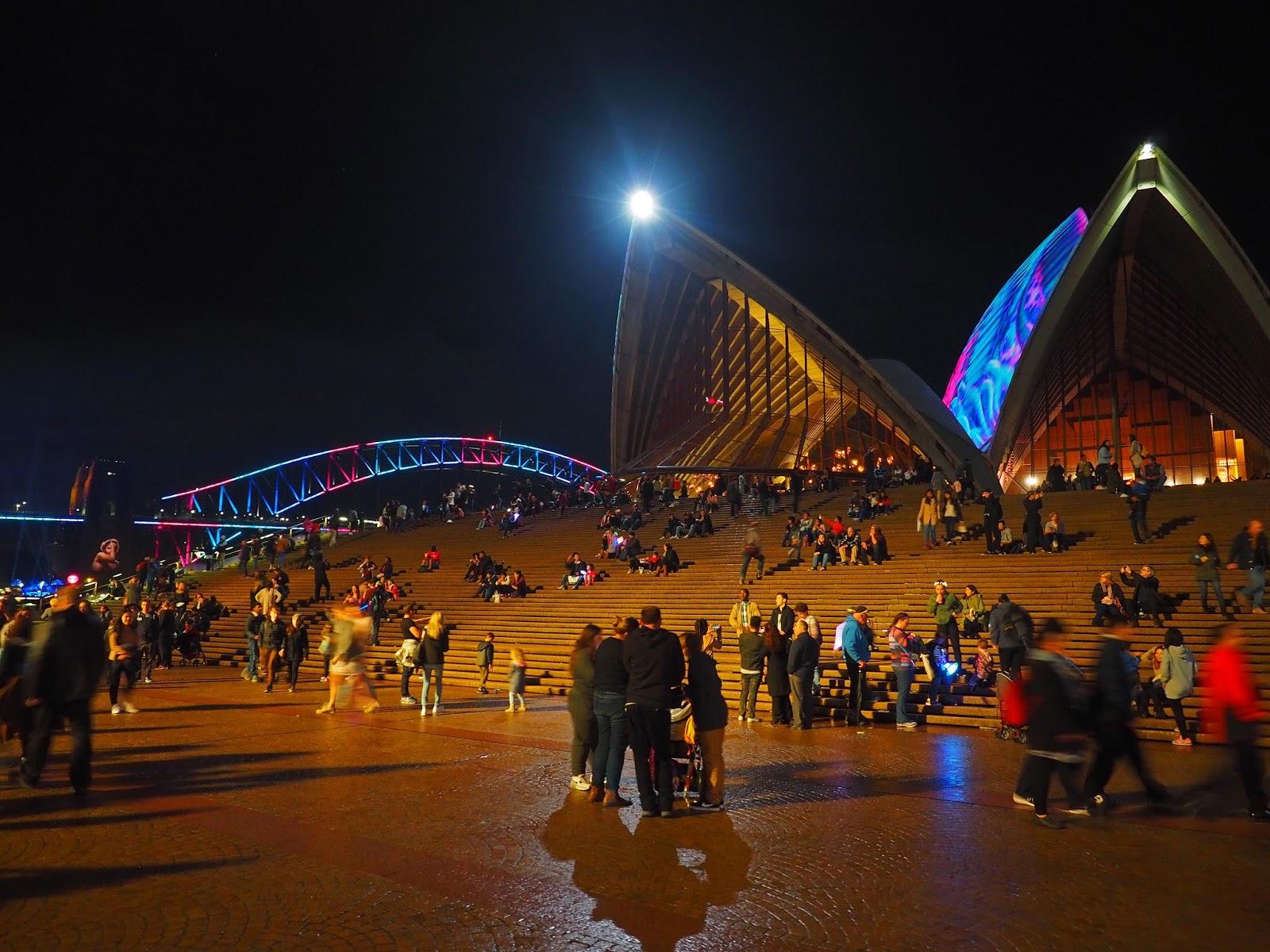 Vivid Sydney Opera House and Harbour Bridge