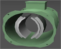 DC motor solid pole shoes or stator poles with no winding