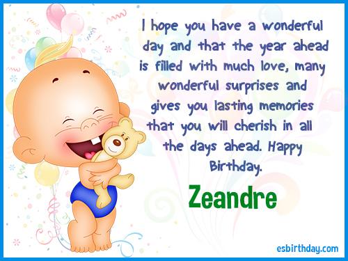 Zeandre Happy birthday