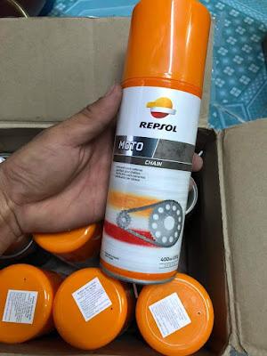 Chai xịt dưỡng sên Repsol Moto Chain (400ml)