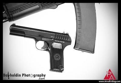 KWA Tokarev TKV-33, Airsoft TKV-33, Airsoft Gas Blowback Pistol, Airsoft prototype guns, New 2011 Airsoft Guns, Shot Show 2011, Pyramyd Airsoft Blog, Tom Harris Media,