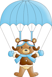 Bear Fliying Clip Art.