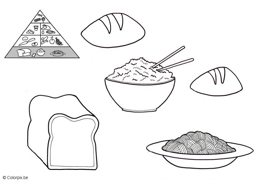 Grains Group Coloring Pages Coloring Pages