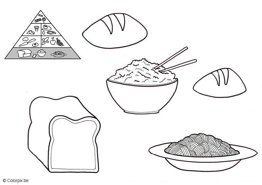 Piramide Alimentare Da Colorare