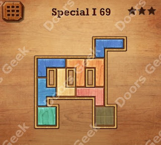 Cheats, Solutions, Walkthrough for Wood Block Puzzle Special I Level 69