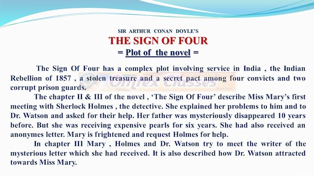Chapter 4: The Sign of Four Balbharati Solutions for English