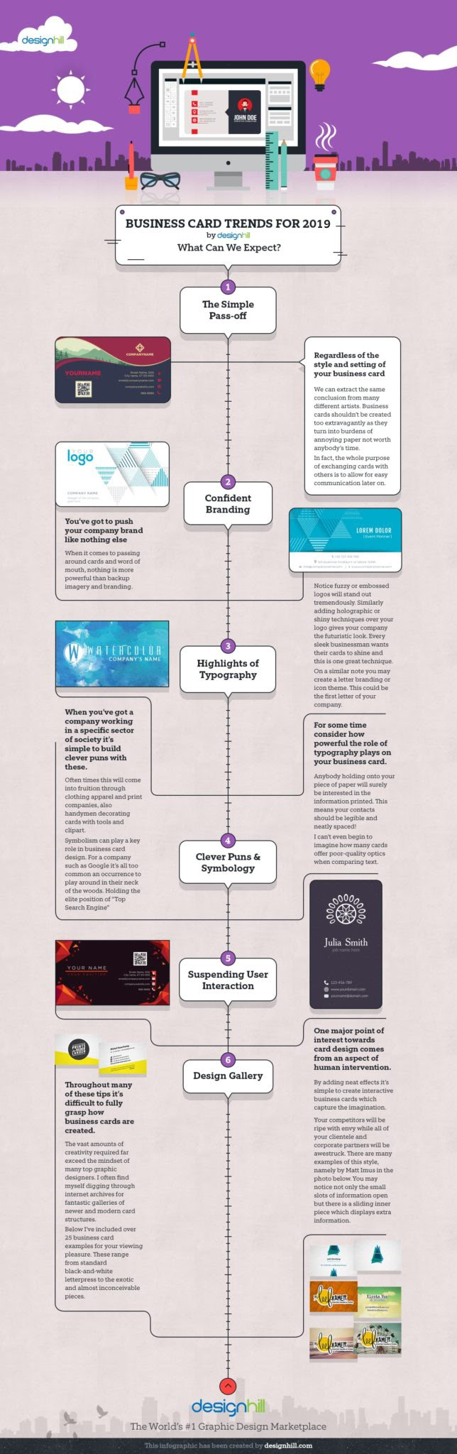 Top 6 Business Card Trends For 2020 #Infographic