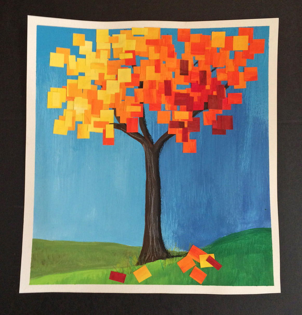 That Artist Woman Autumn Collage Tree