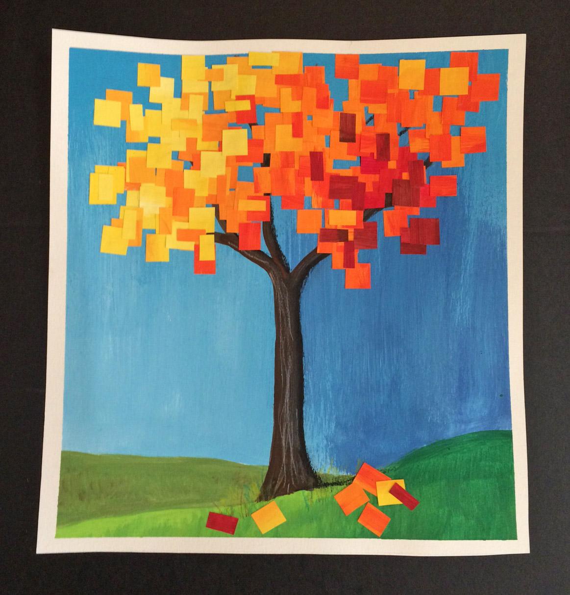 That Artist Woman Autumn Collage Tree