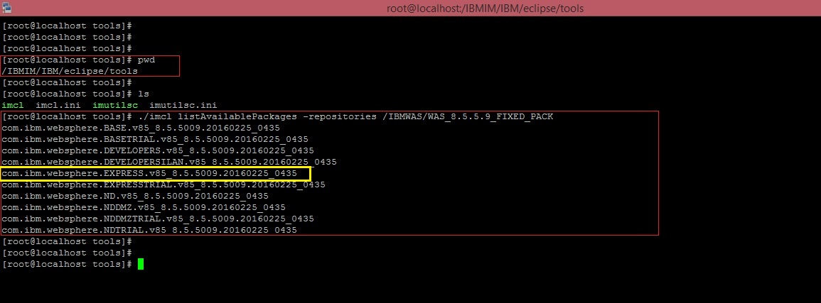 MiddlewareBox: Installing fix pack using the command line on ...