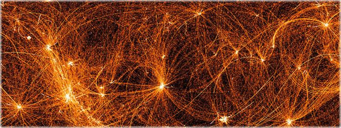 mapa do céu em raios-x