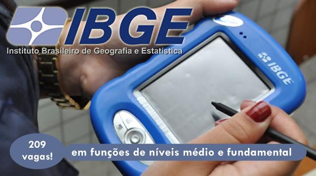 Concurso IBGE 2019: autorização visa contratar 200 vagas temporárias