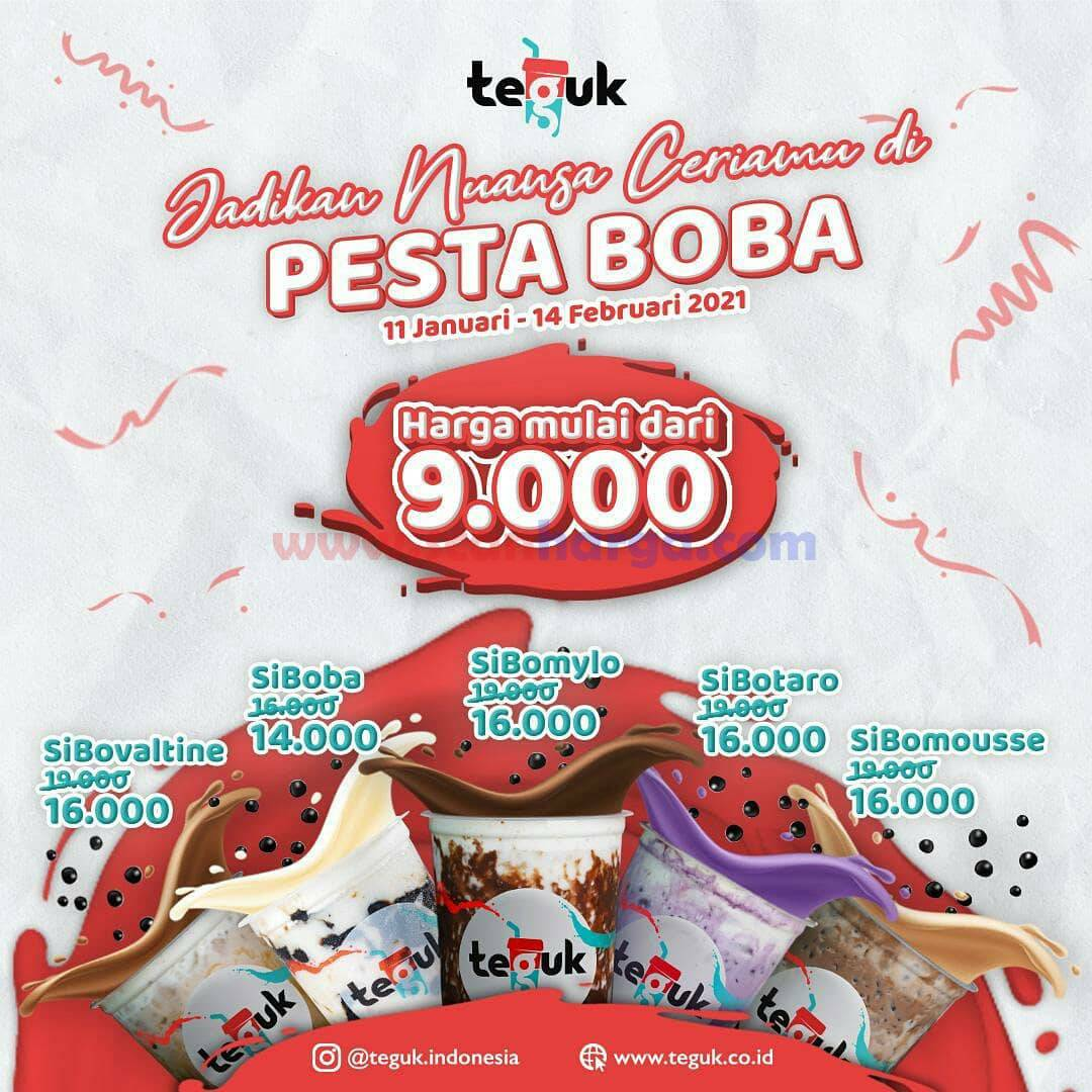 Promo Teguk Pesta Boba Harga mulai Rp 9.000
