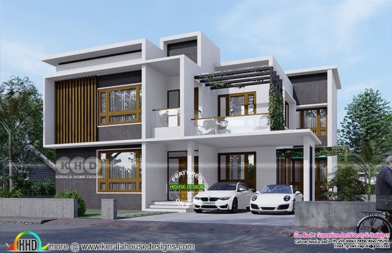 contemporary model box model house rendering