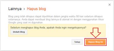 tentunya ketika ini Anda telah mempunyai blog Cara Menghapus Blog Di Blogger