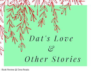 'Dat's Love & Other Stories' title image with over-hanging willow branches in red