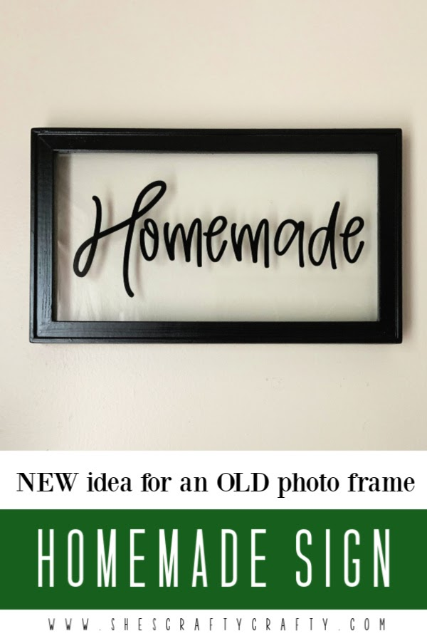 How to reused an old photo frame by making a Homemade Sign Wall Decor
