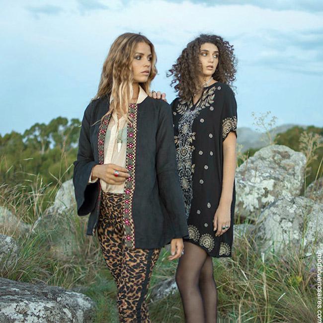 Moda otoño invierno 2019: Estilo bohemio y femenino en la colección Rimmel otoño invierno 2019. Ropa de mujer otoño invierno 2019.