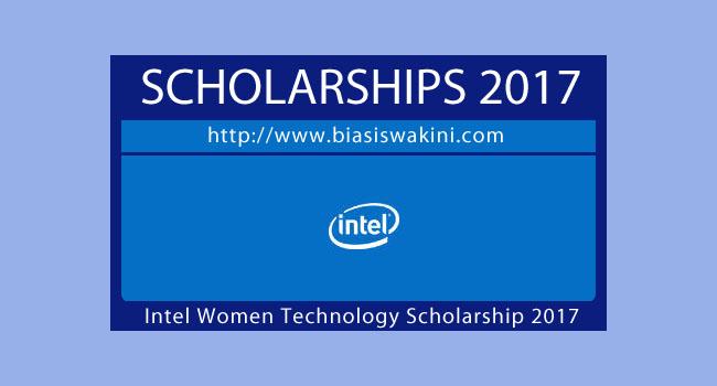 Intel Women In Technology Scholarship 2017