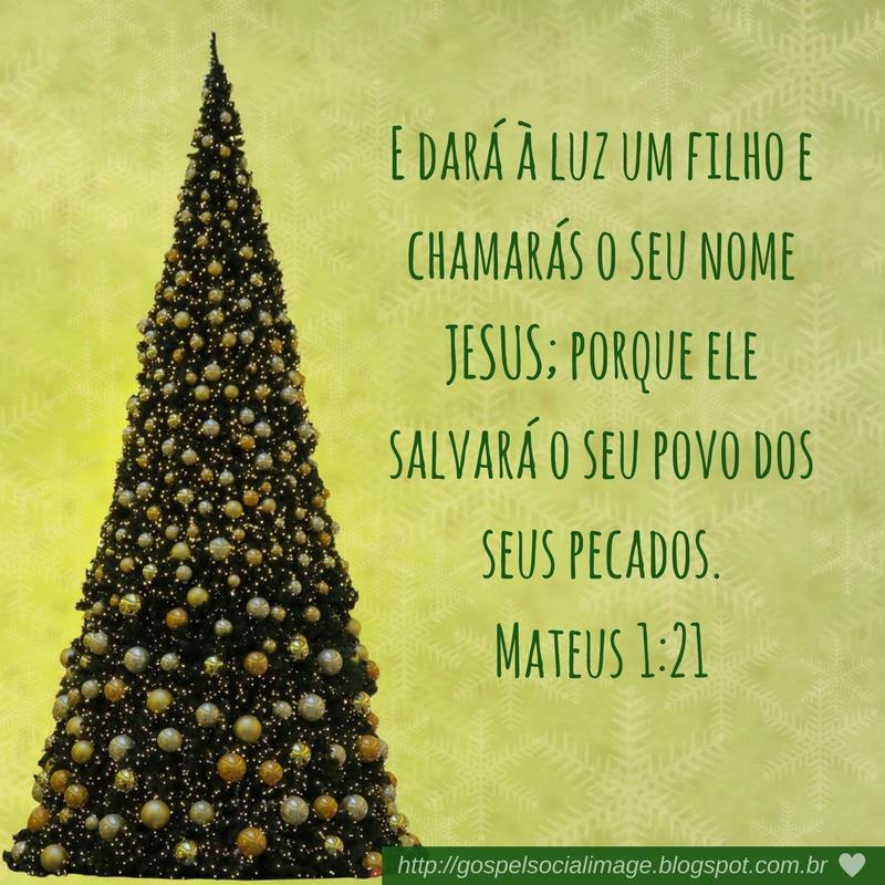 Versículo bíblico com imagem árvore de natal