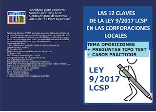 Ley 9/2017 de contratos del sector público en la administración local.