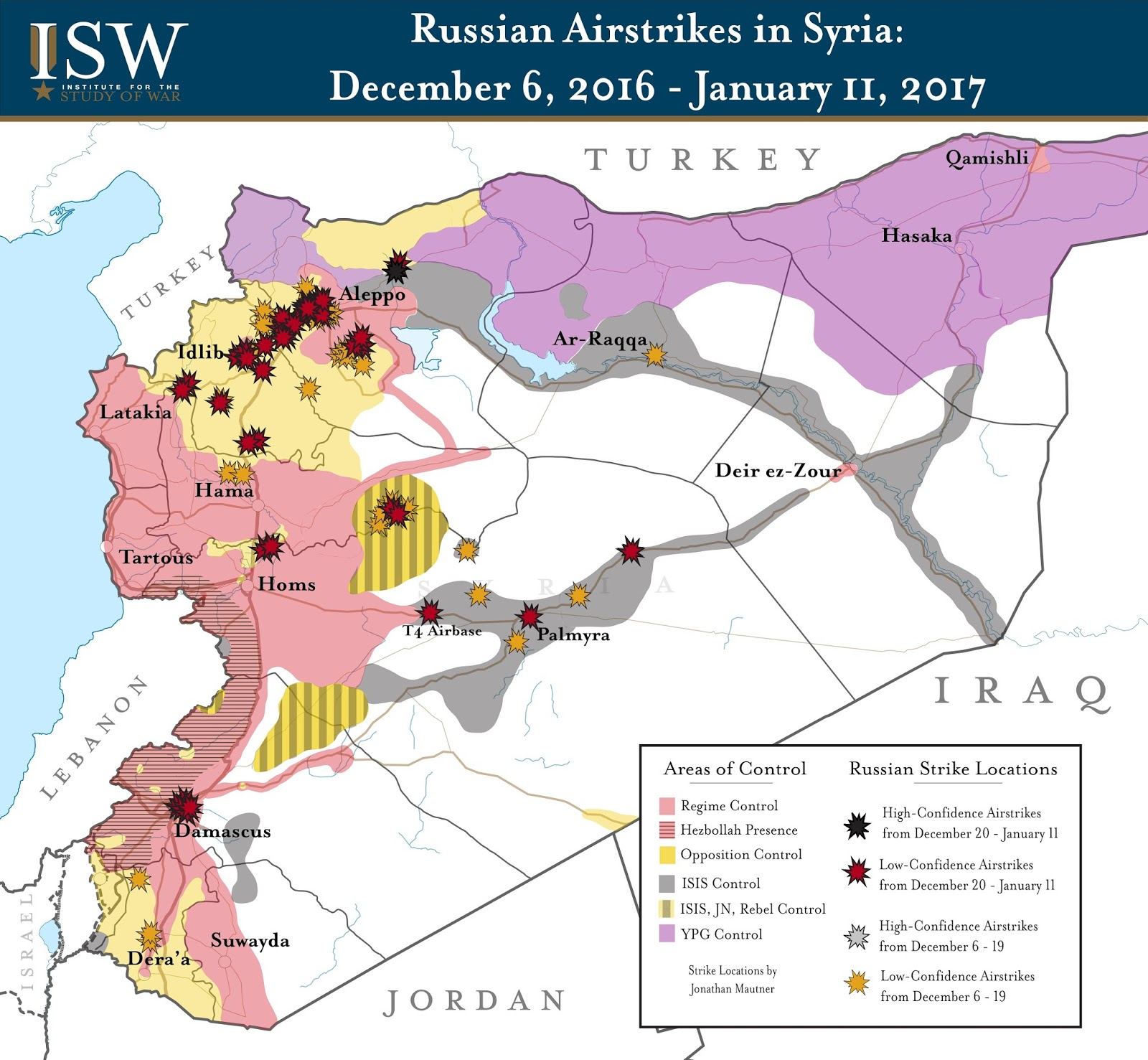 Russian Airstrikes in Syria: December 6, 2016 – January 11, 2017