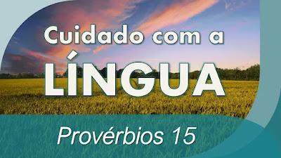 pregação cuidado com a língua estudo bíblico provérbios 15