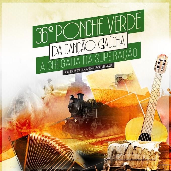 Inscrições para o 36º Ponche Verde da Canção Gaúcha vão até o dia 24 de setembro