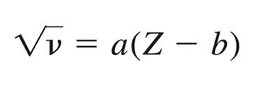 fórmula de la frecuencia de rayos x emitidos