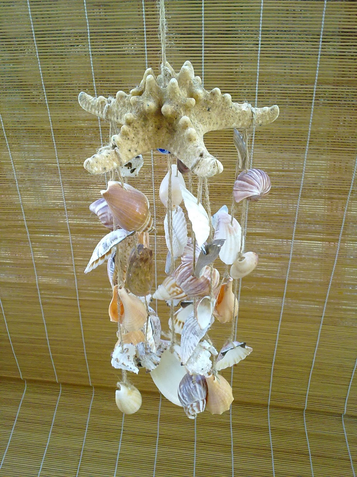 Nature Of The Sea Driftwood N Seashell Wind Chimes