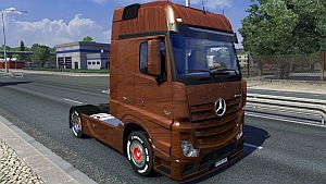 Wood skin for Mercedes Actros MPIV