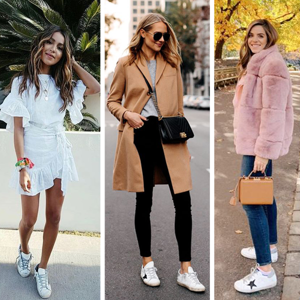 Golden Goose sneakers street style outfits