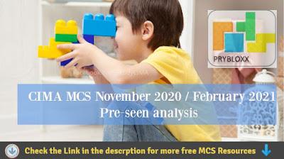 MCS November 2020 & February 2021 Pre-seen video analysis - Prybloxx  - CIMA Management Case Study