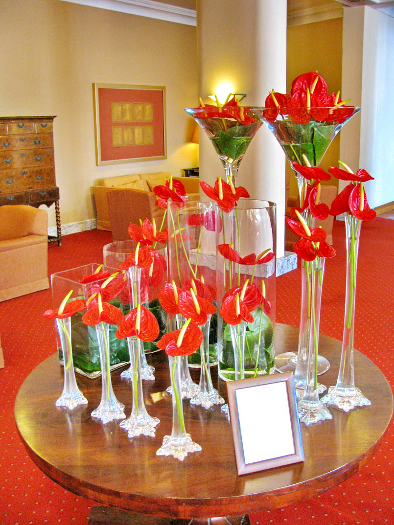 red flowers in the Cliff Bay, one of the best 15 hotels in Europe