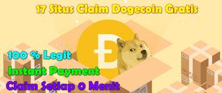 17 Situs Claim Faucet Penghasil DOGECOIN Gratis