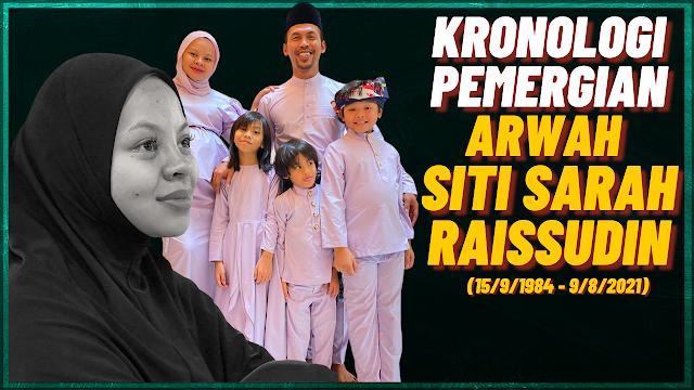 Kronologi Pemergian Arwah Siti Sarah Raissuddin (15 September 1984 - 9 Ogos 2021)