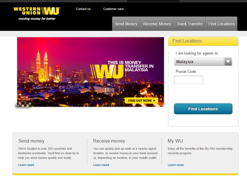 Cara Terima Wang Melalui Western Union