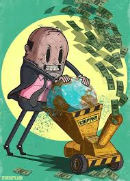 money mania, that costs the Earth