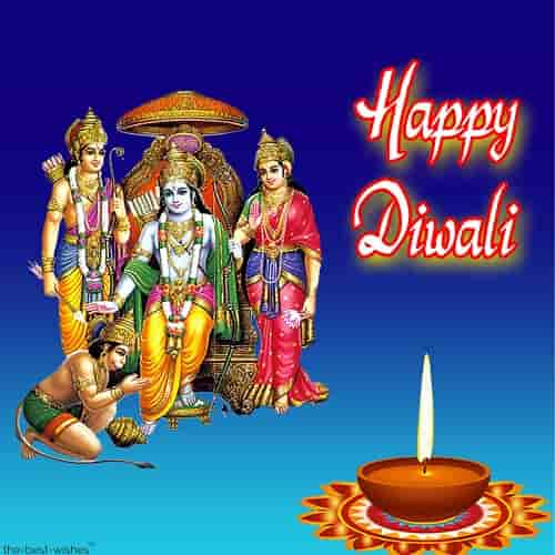 happy diwali wishes with ram laxman hanuman sita