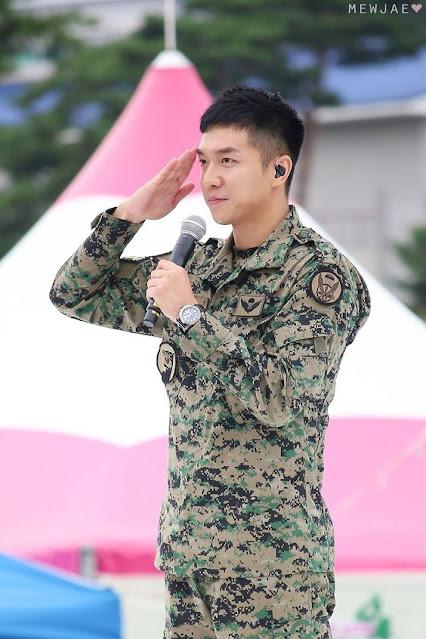 Lee Seung Gi saat menjalani wajib militer sebagai Army di Korea