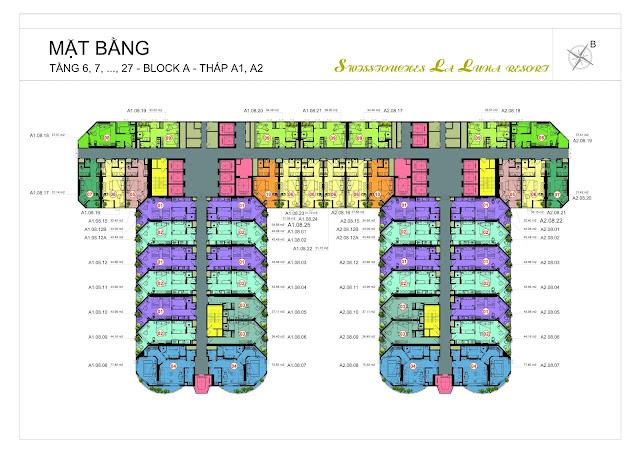 thiết kế đa dạng tạo nên phong cách độc đáo dự án La Luna Nha Trang