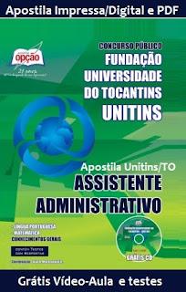 Apostila Unitins gratis para assistente administrativo .