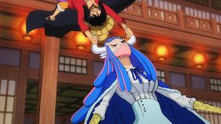 ワンピースアニメ 990話 | 百獣海賊団 飛び六胞 うるティ ルフィ | ONE PIECE Beasts Pirates Ulti vs Luffy