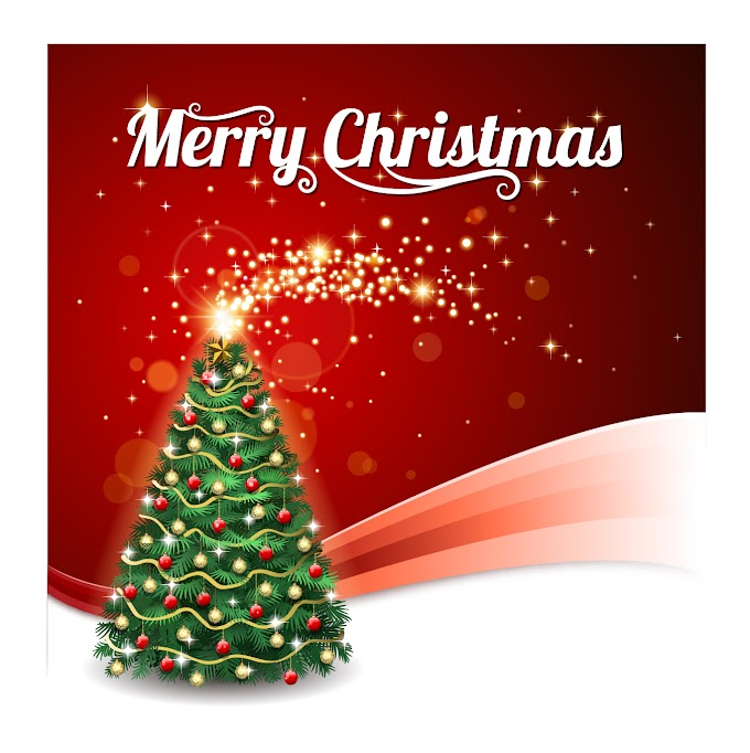 christmas posters  New years christmas tree background vector