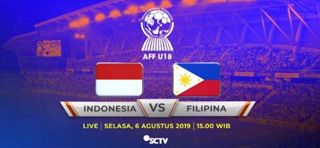 Piala AFF U-18 2019 Vietnam: Jadwal Timnas Indonesia vs Filipina Live SCTV