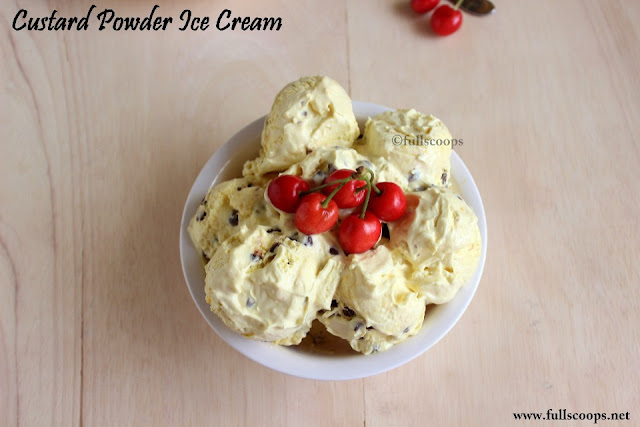 Custard Powder Ice Cream