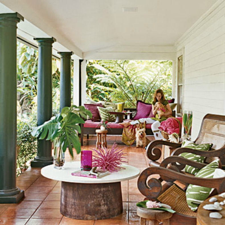 Tropical, coastal, outdoor room