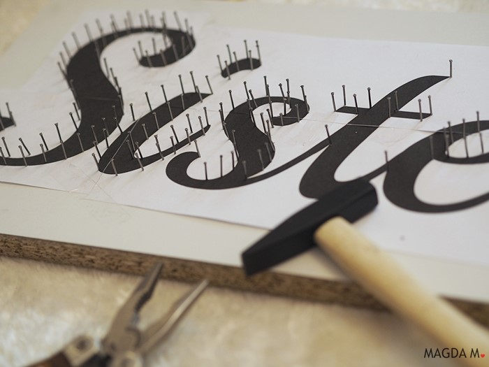 DIY: Stringart - obraz ze sznurka