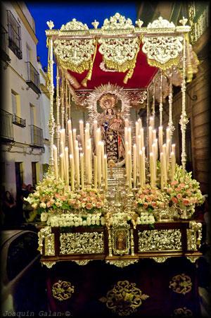 Horario e Itinerario de la Procesión de la Virgen del Carmen de Santa Catatalina de Sevilla